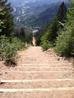 Manitou Incline looking from the top down