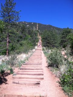 Manitou Incline from the bottom looking up